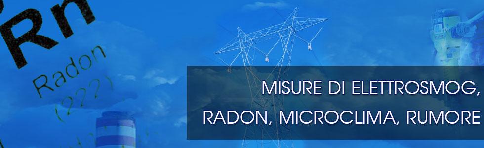 Misure di elettrosmog, radon, microclima, rumore